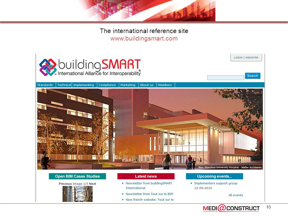 The international reference site www.buildingsmart.com