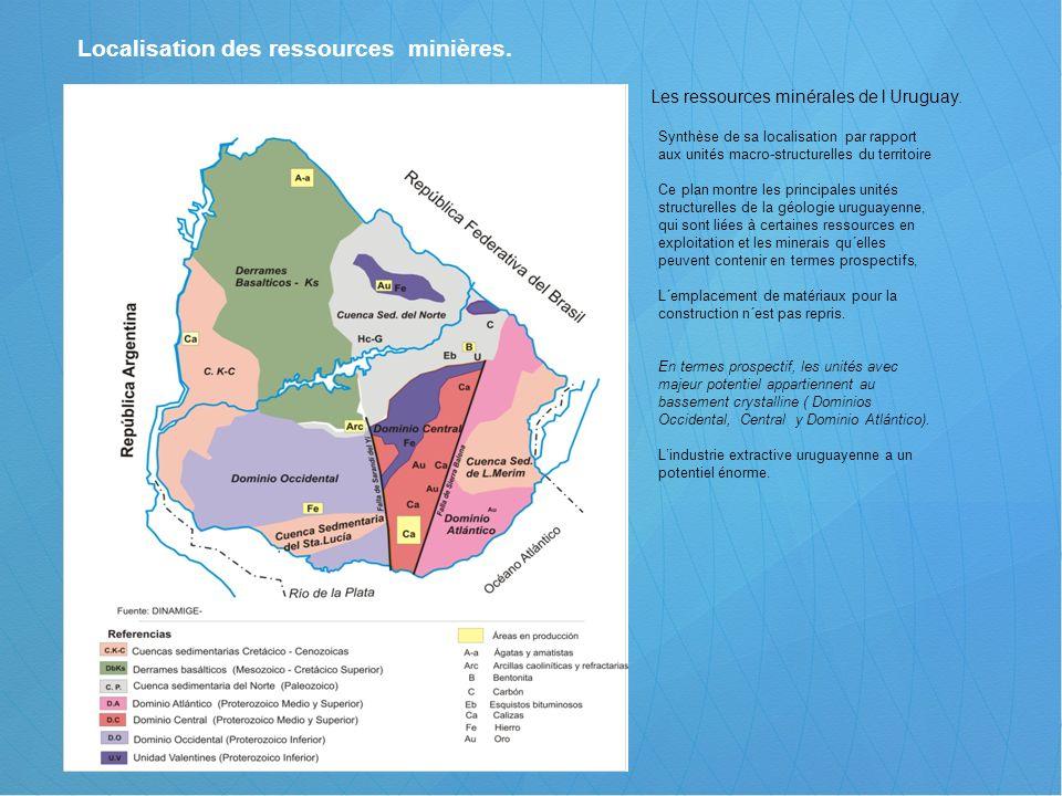 Localisation des ressources minières.