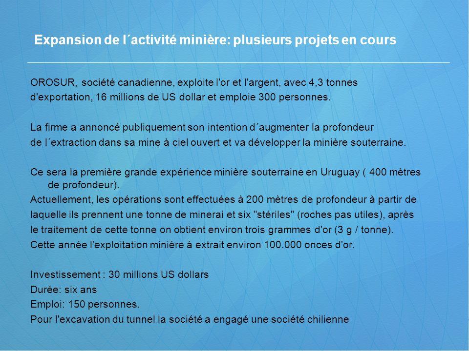 Expansion de l´activité minière: plusieurs projets en cours
