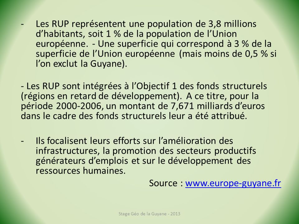 Source : www.europe-guyane.fr