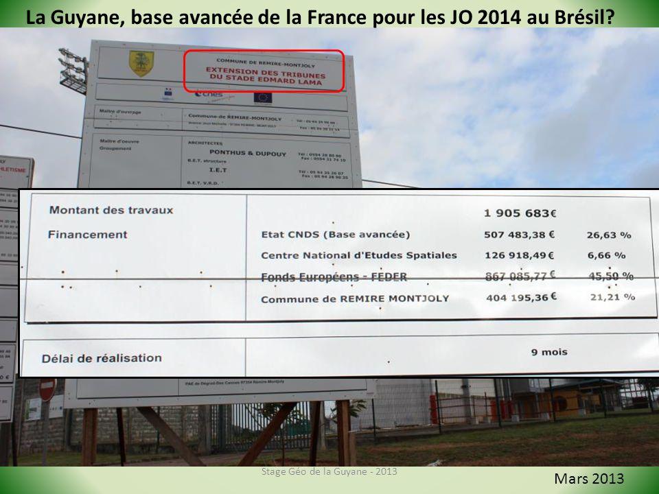 La Guyane, base avancée de la France pour les JO 2014 au Brésil