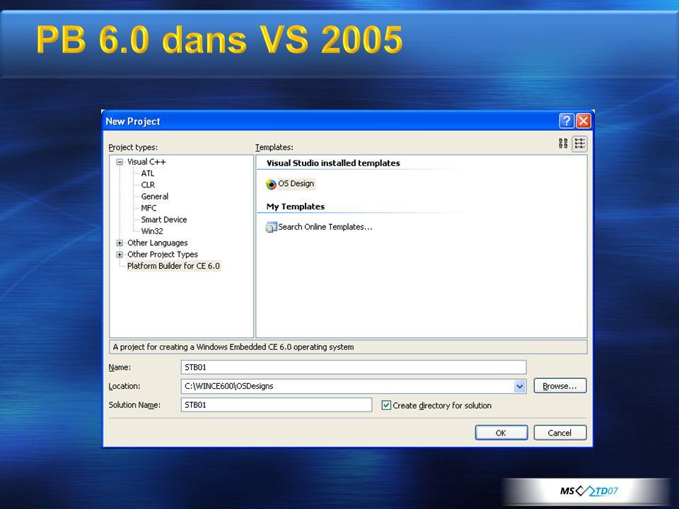 PB 6.0 dans VS 2005