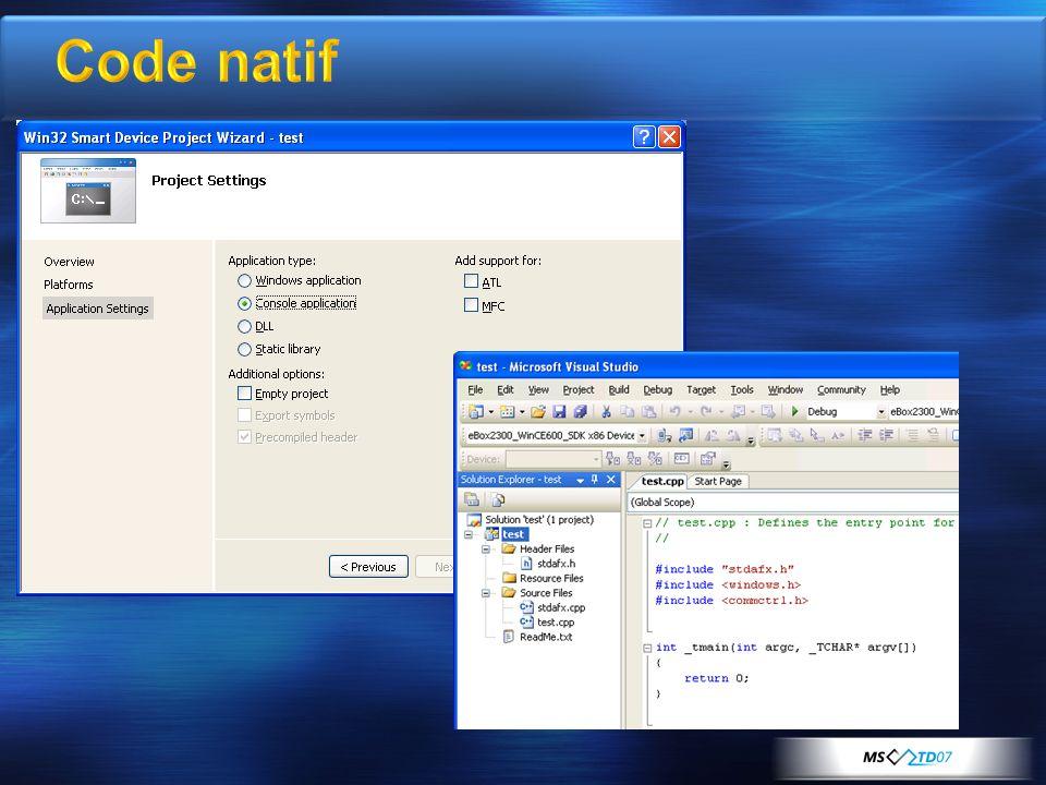 Code natif