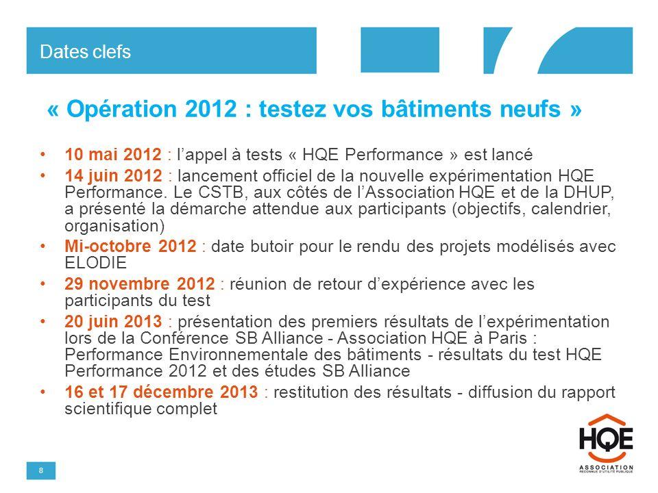 « Opération 2012 : testez vos bâtiments neufs »