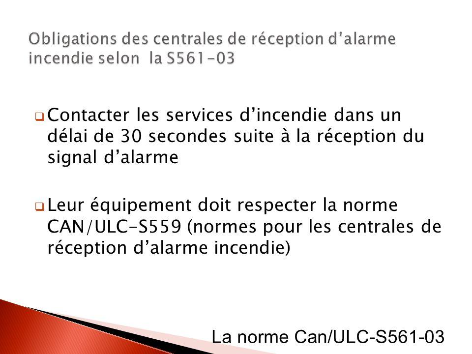 Obligations des centrales de réception d'alarme incendie selon la S561-03
