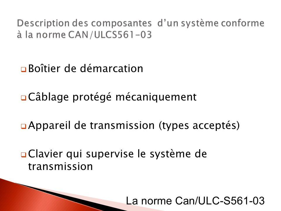 La norme Can/ULC-S561-03 Boîtier de démarcation