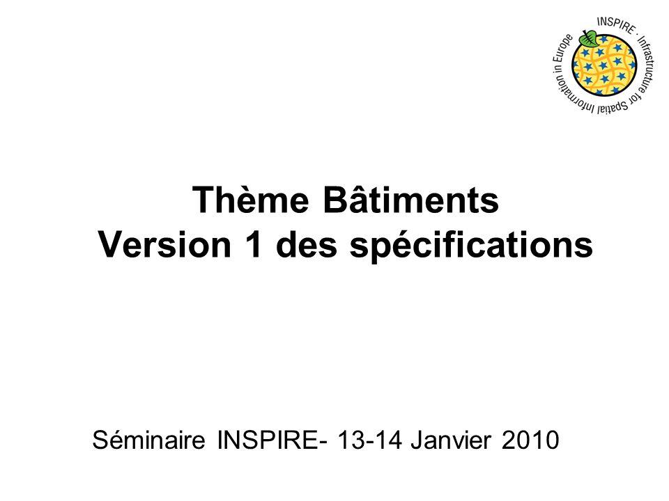Thème Bâtiments Version 1 des spécifications