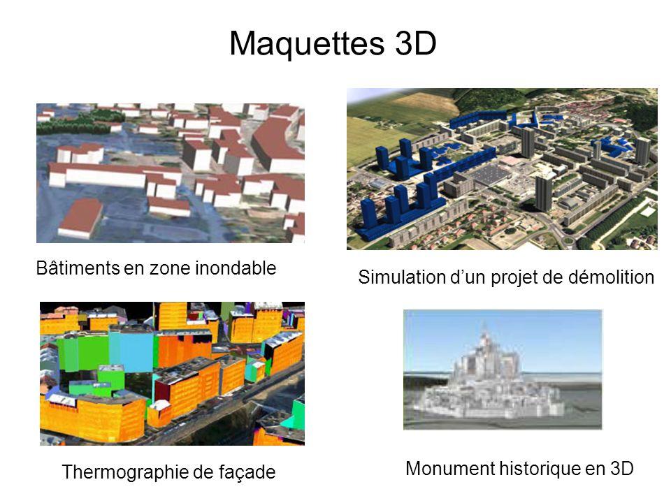 Maquettes 3D Bâtiments en zone inondable