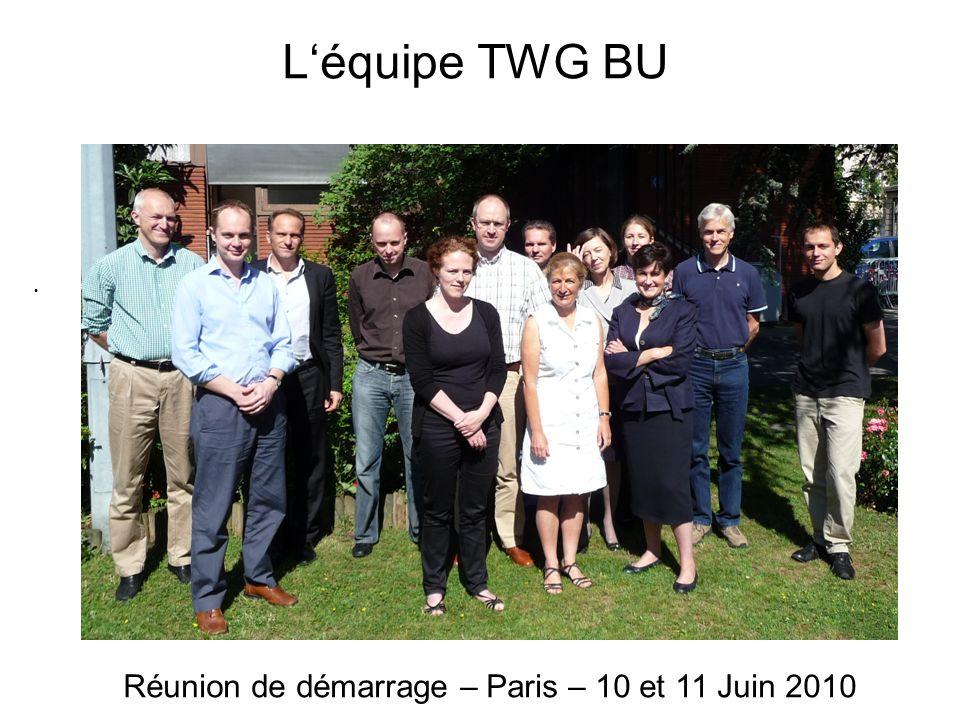 Réunion de démarrage – Paris – 10 et 11 Juin 2010