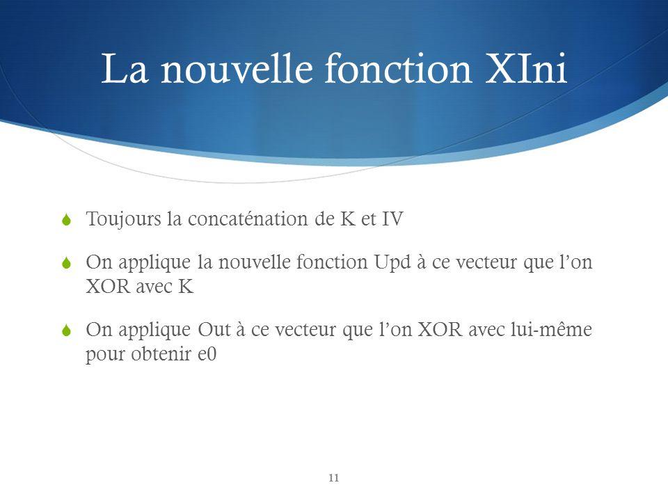 La nouvelle fonction XIni