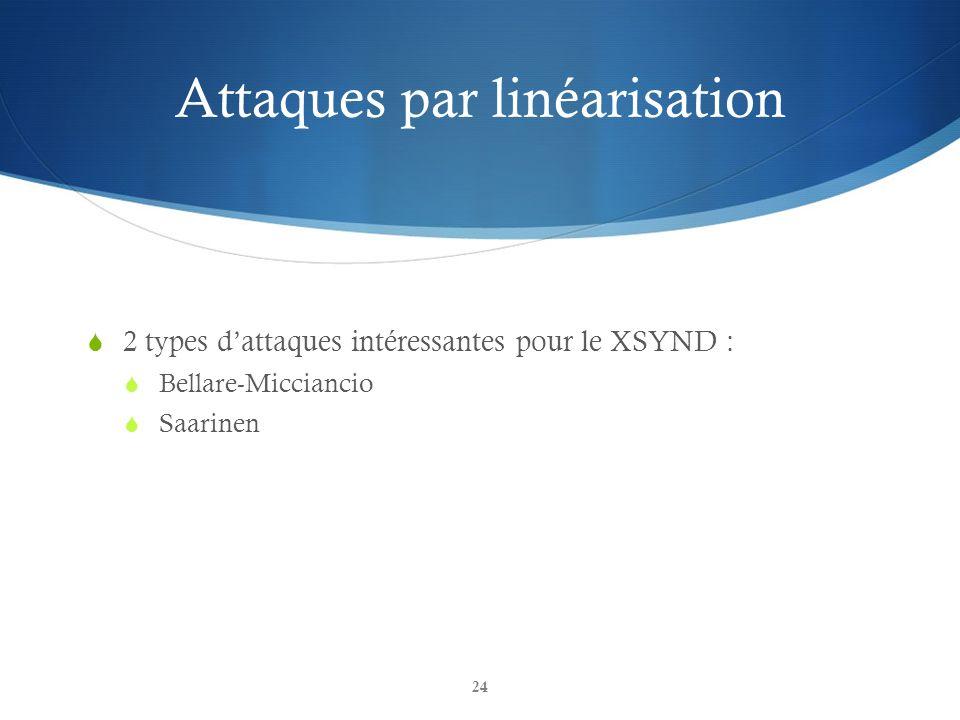Attaques par linéarisation
