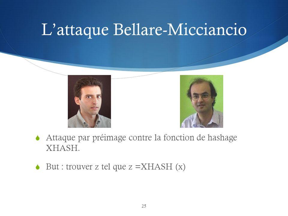 L'attaque Bellare-Micciancio