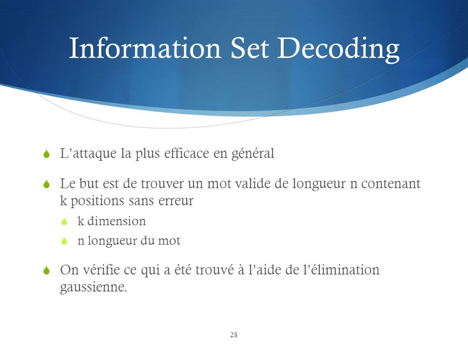 Information Set Decoding
