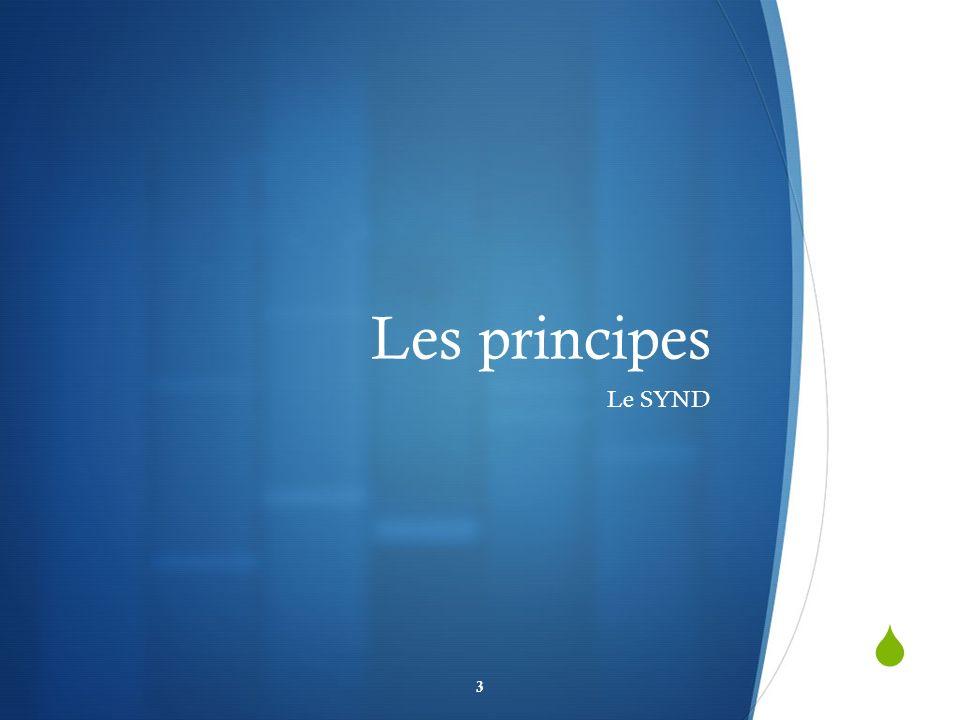 Les principes Le SYND