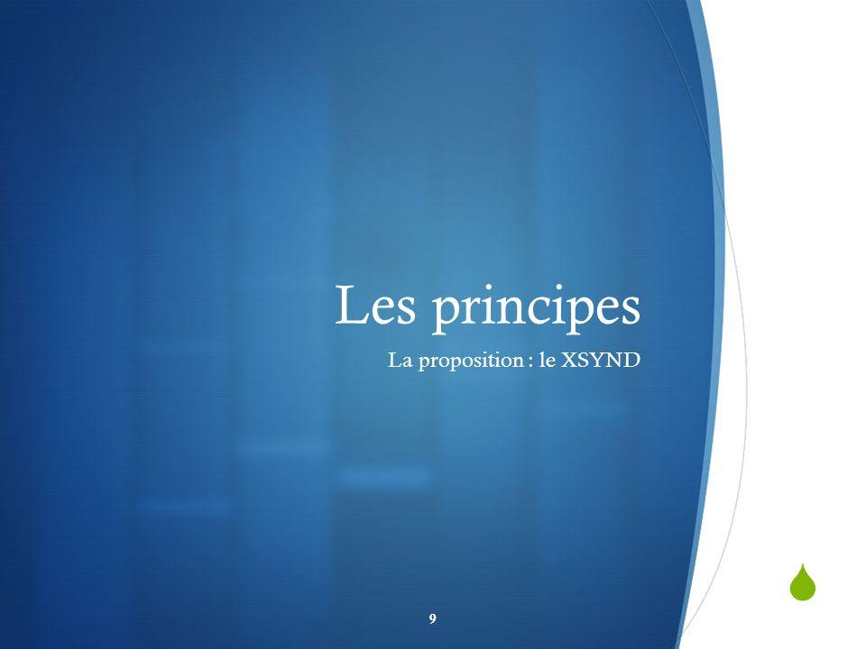 Les principes La proposition : le XSYND