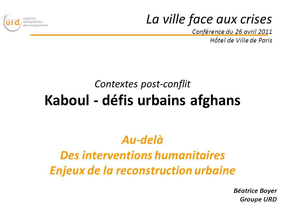 Kaboul - défis urbains afghans