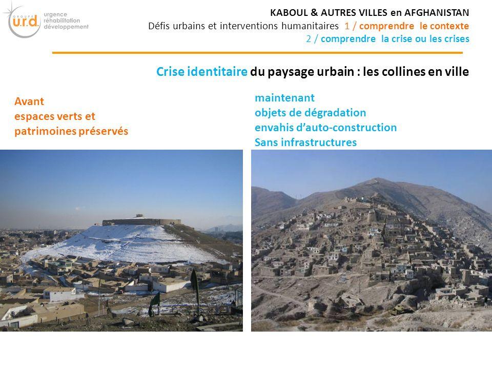 Crise identitaire du paysage urbain : les collines en ville