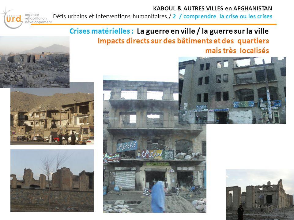 Crises matérielles : La guerre en ville / la guerre sur la ville