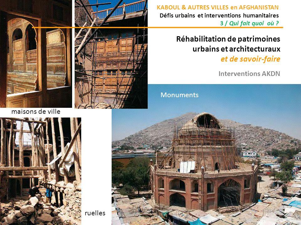 Réhabilitation de patrimoines urbains et architecturaux