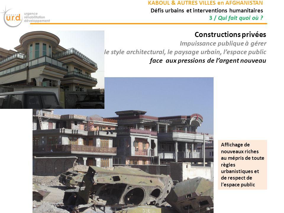 Constructions privées
