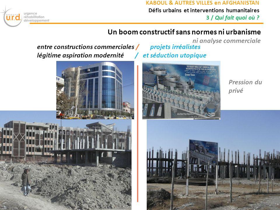 Un boom constructif sans normes ni urbanisme