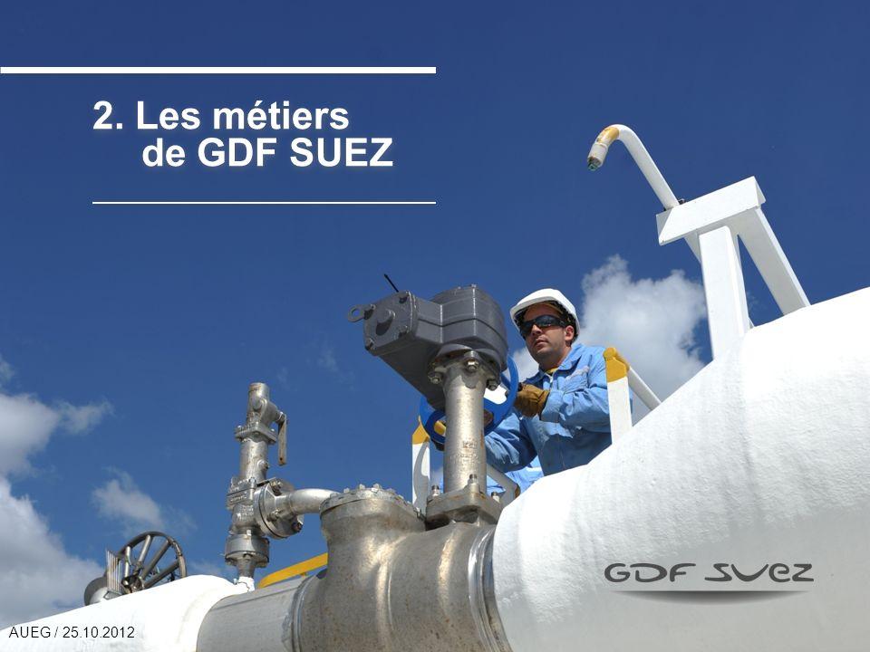 2. Les métiers de GDF SUEZ AUEG / 25.10.2012