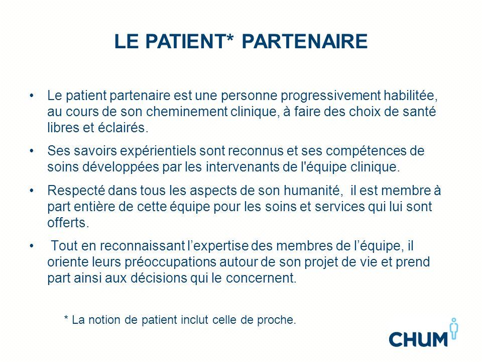 LE Patient* Partenaire