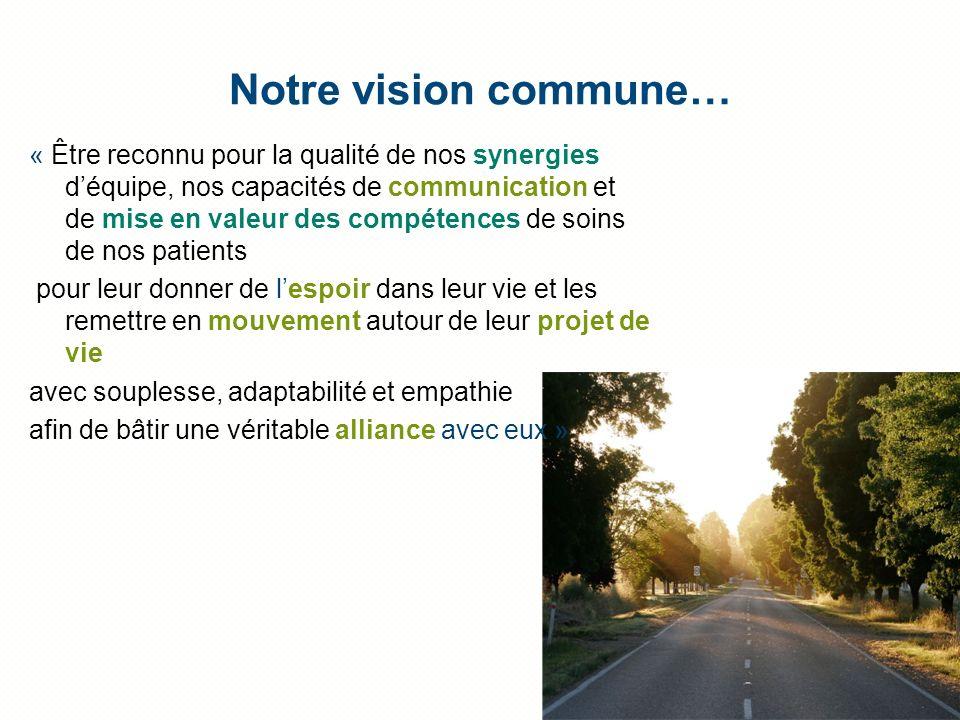 Notre vision commune…