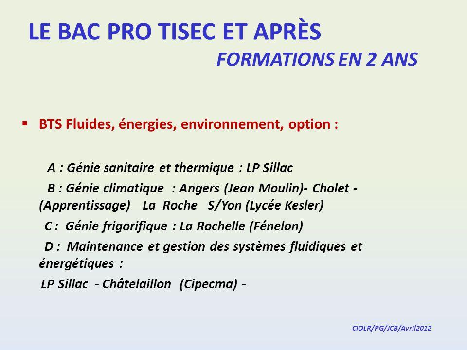LE BAC PRO TISEC ET APRÈS FORMATIONS EN 2 ANS