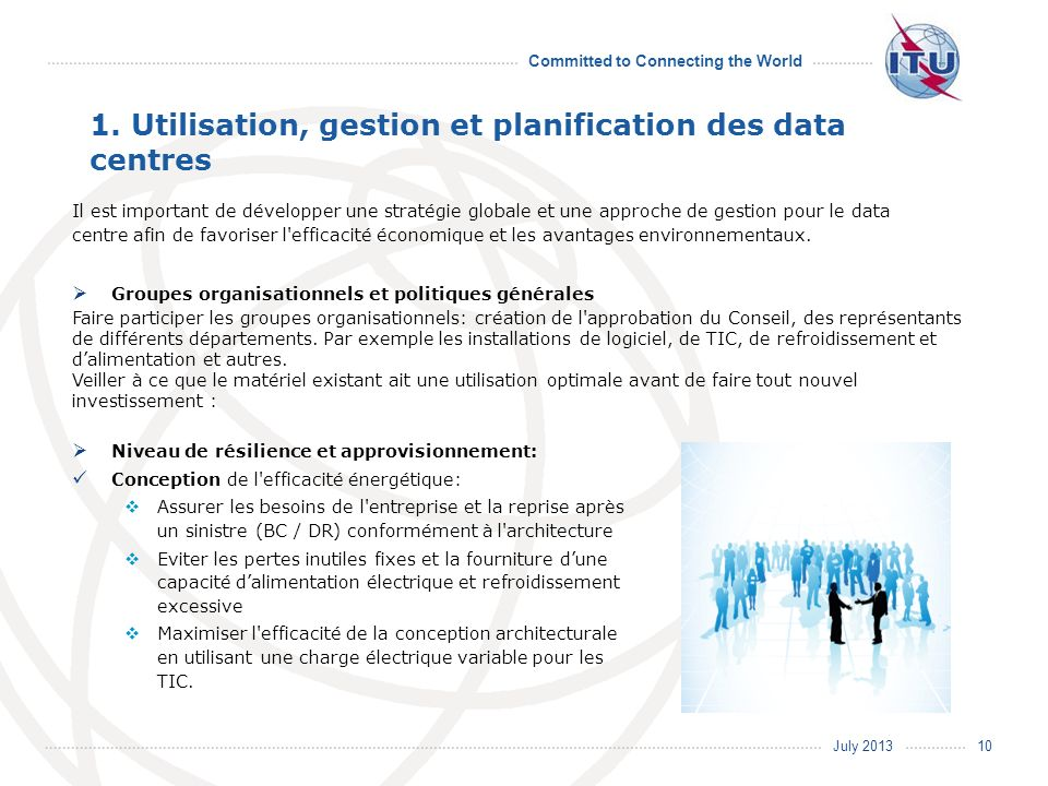 1. Utilisation, gestion et planification des data centres