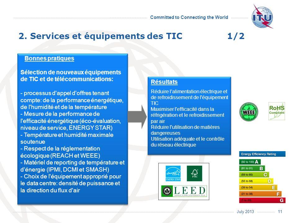 2. Services et équipements des TIC 1/2