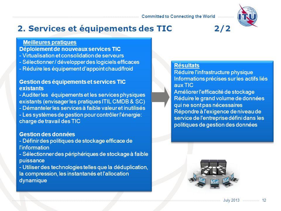 2. Services et équipements des TIC 2/2