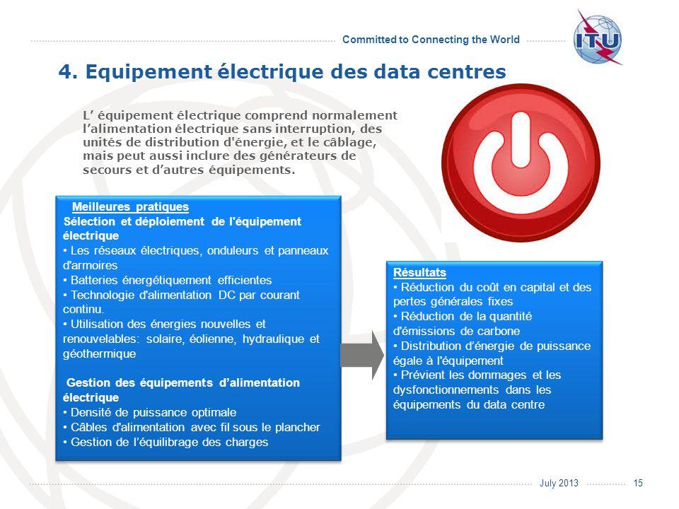 4. Equipement électrique des data centres