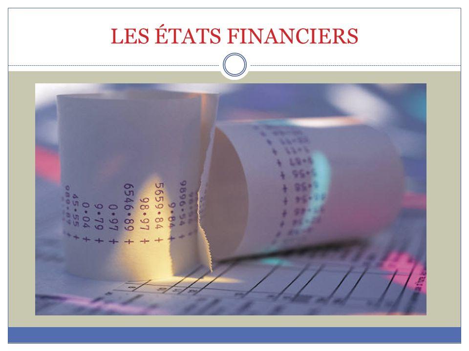 LES ÉTATS FINANCIERS