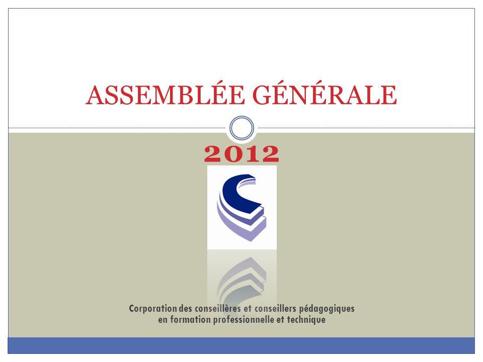 ASSEMBLÉE GÉNÉRALE 2012.