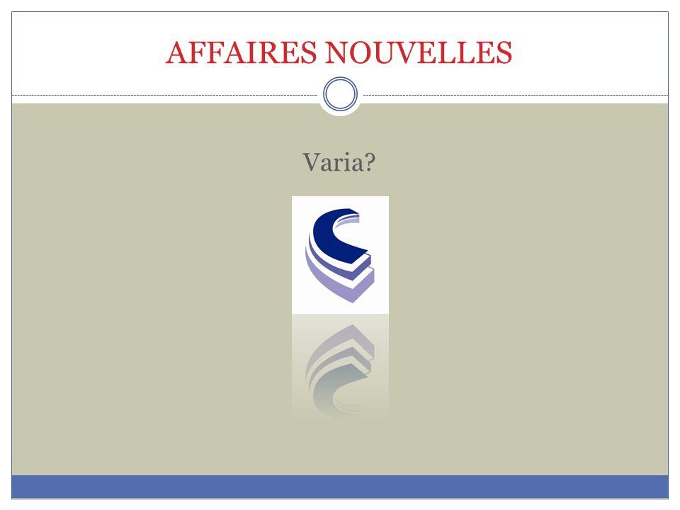 AFFAIRES NOUVELLES Varia