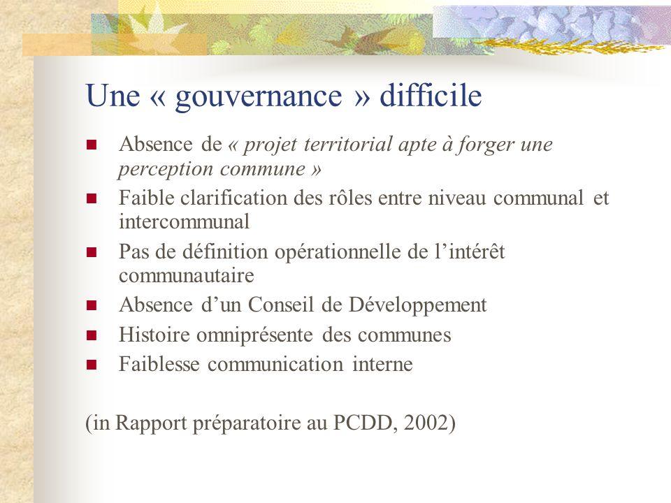 Une « gouvernance » difficile