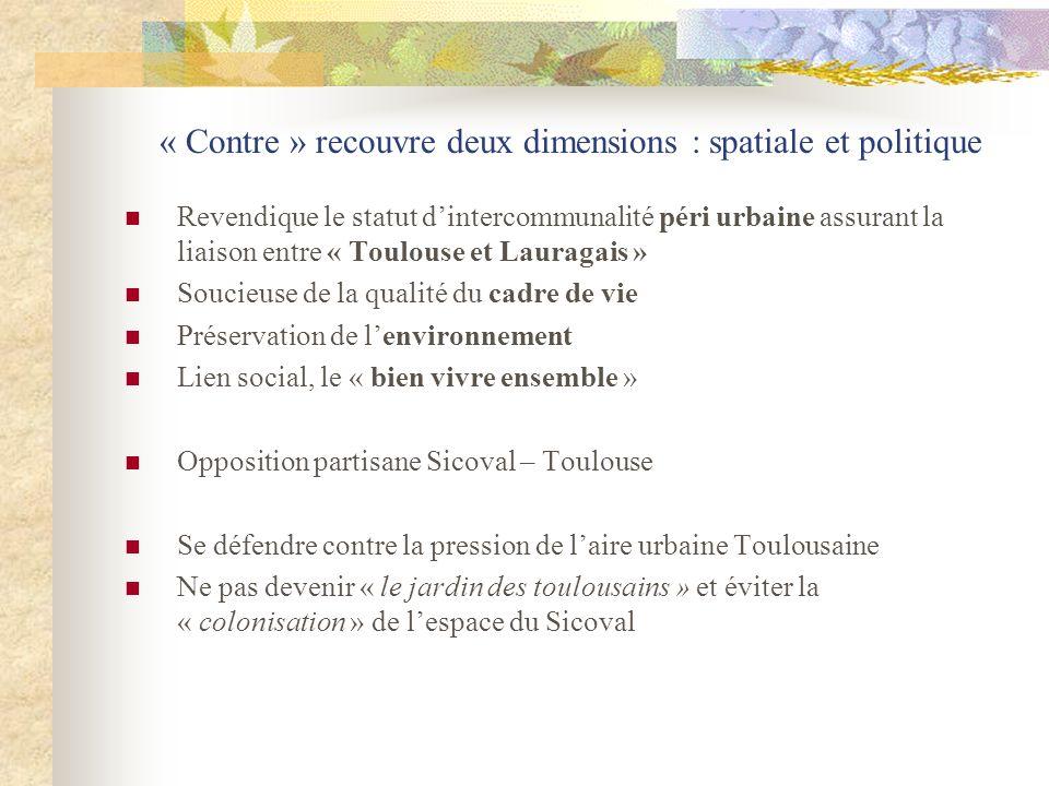 « Contre » recouvre deux dimensions : spatiale et politique