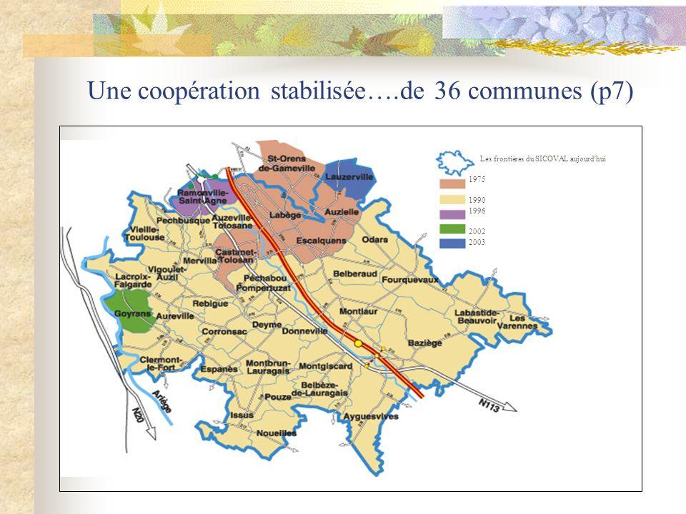 Une coopération stabilisée….de 36 communes (p7)
