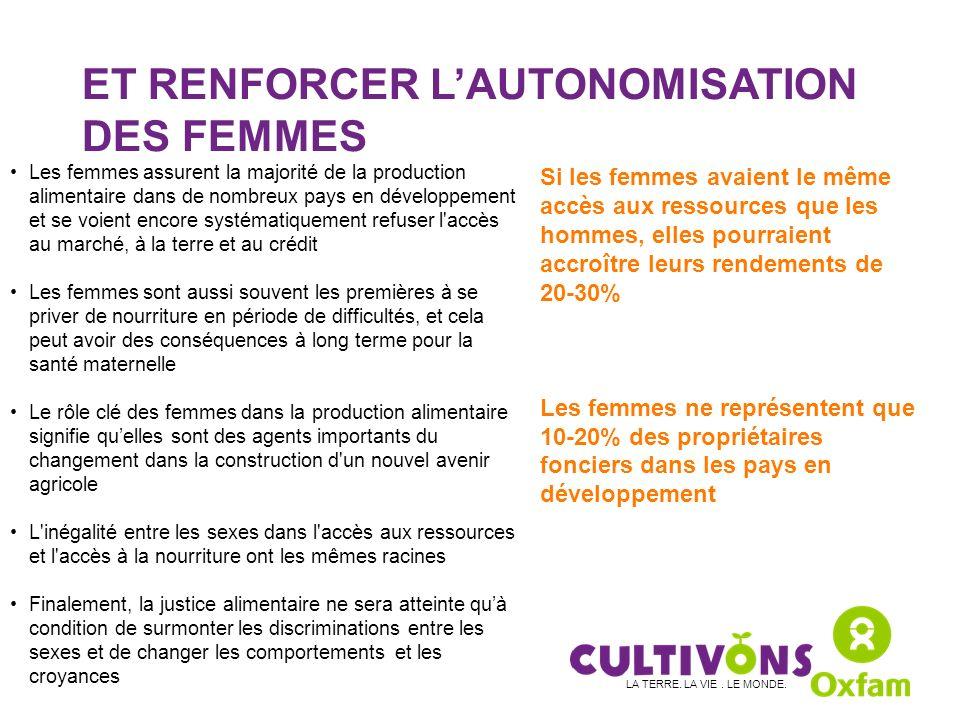 ET RENFORCER L'AUTONOMISATION DES FEMMES