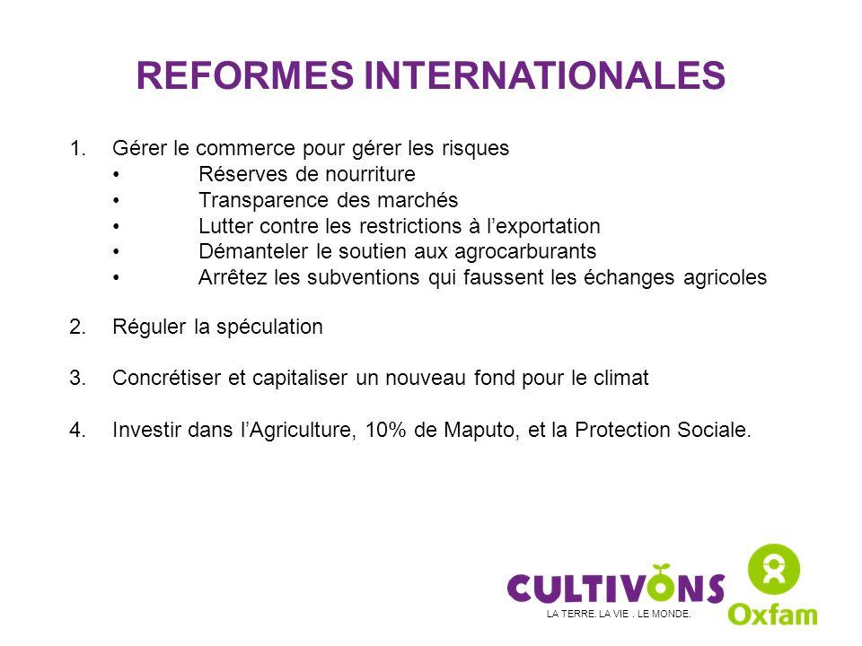 REFORMES INTERNATIONALES