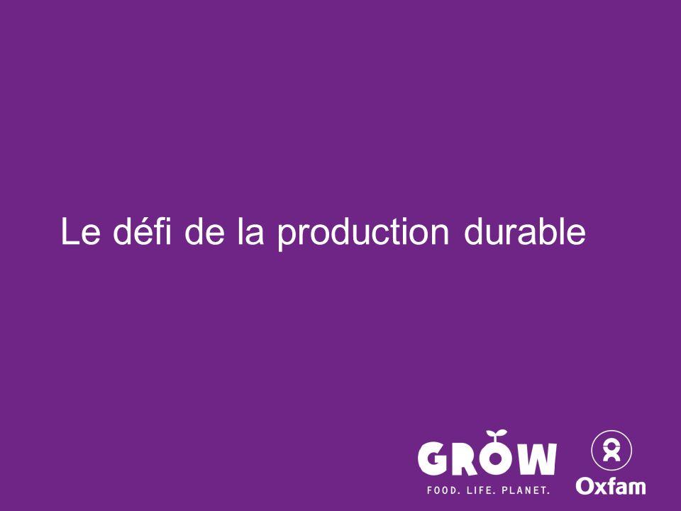 Le défi de la production durable