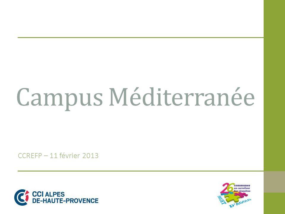 Campus Méditerranée CCREFP – 11 février 2013