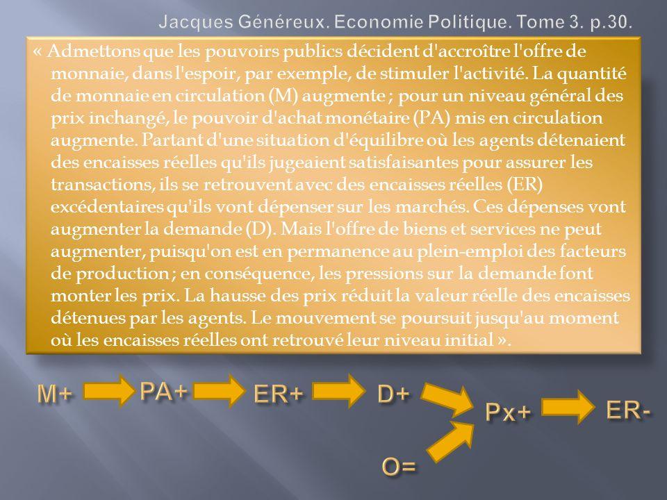 Jacques Généreux. Economie Politique. Tome 3. p.30.