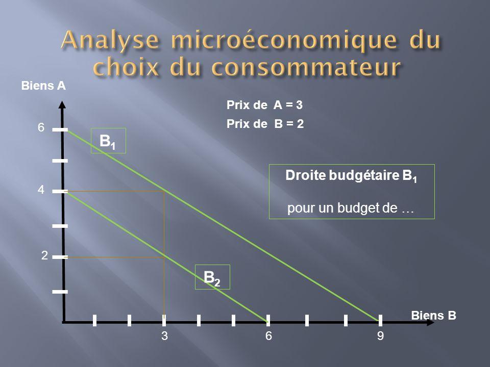 Analyse microéconomique du choix du consommateur