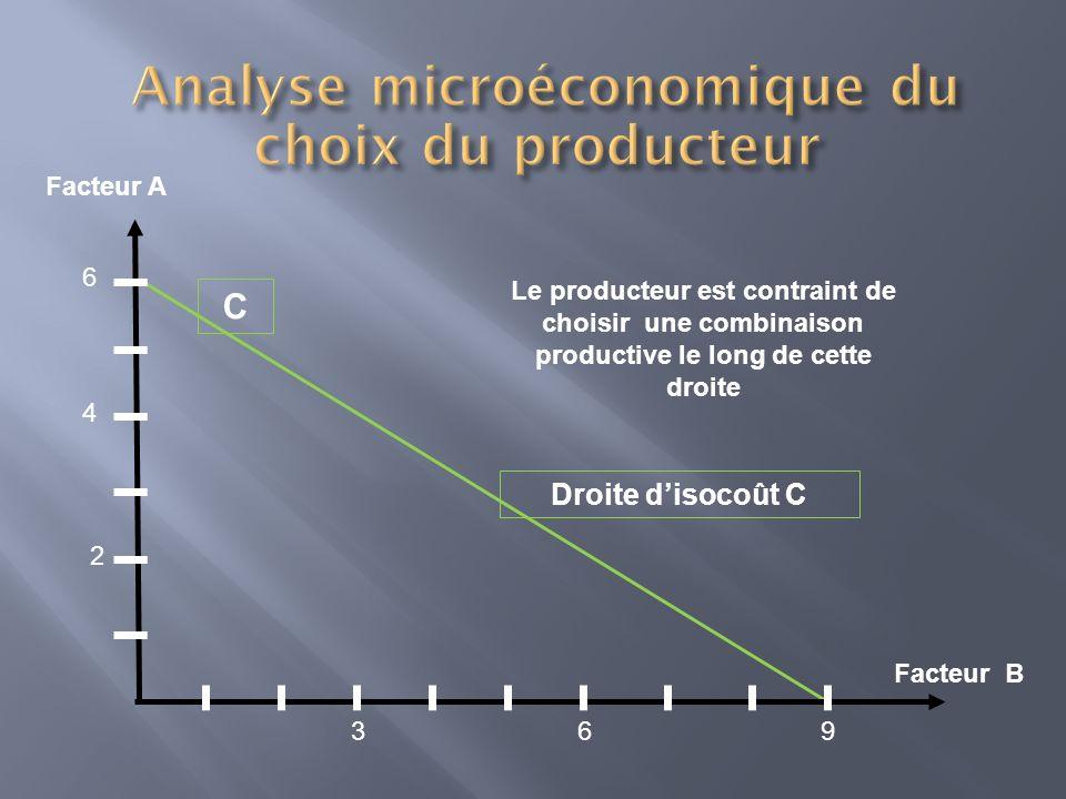Analyse microéconomique du choix du producteur