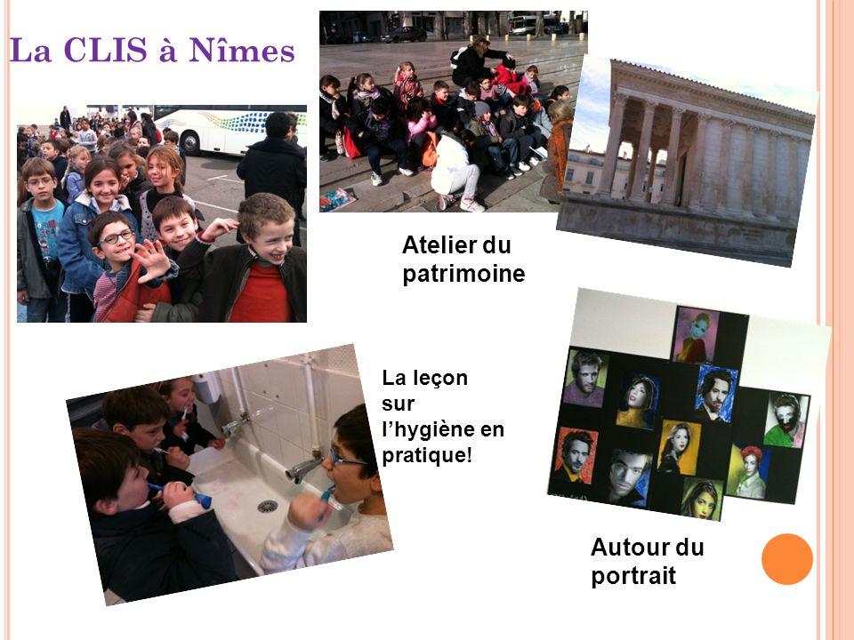 La CLIS à Nîmes Atelier du patrimoine Autour du portrait