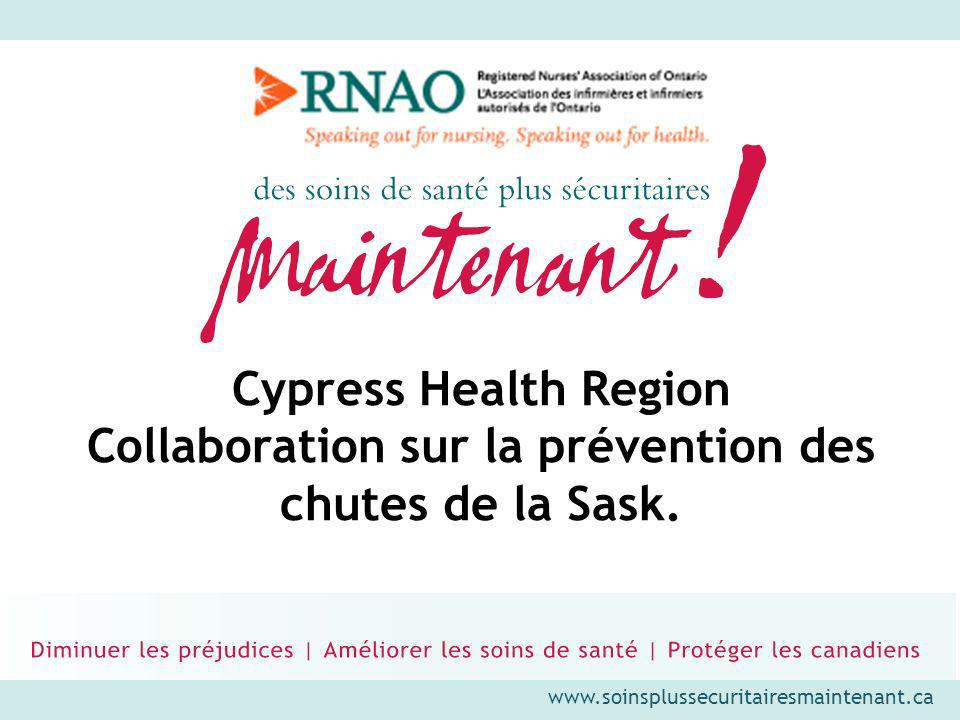 Cypress Health Region Collaboration sur la prévention des chutes de la Sask.