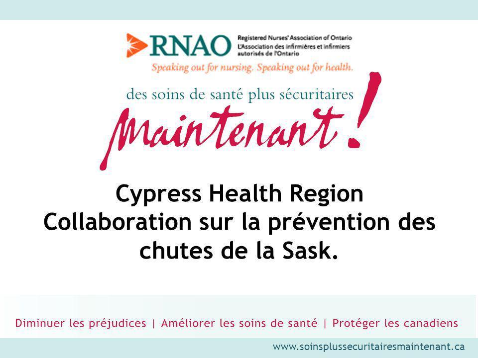 Cypress Health Region Collaboration sur la prévention des chutes de la Sask.