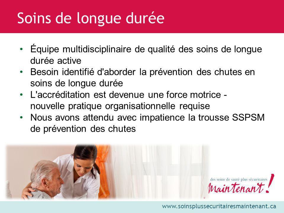 Soins de longue durée Équipe multidisciplinaire de qualité des soins de longue durée active.